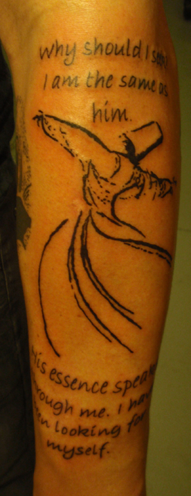 Josh steely's whirling dervish tattoo